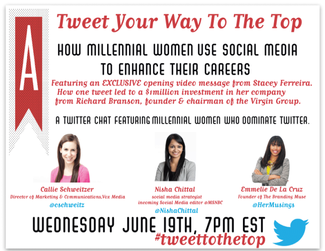 Tweet You Way To the Top Twitter Chat Wednesday, June 19th 7PM